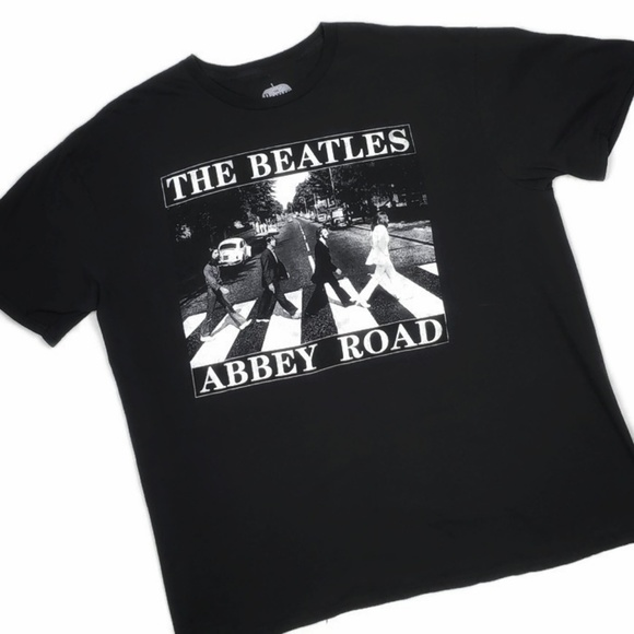 The Beatles Abby Road Mens T-Shirt Black